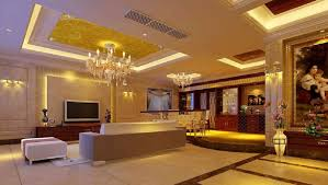European Luxury Home Interior Lighting Night Rendering D House - Home interior lighting