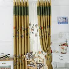 sweet floral bedroom curtains with lace rims