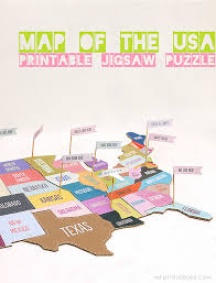 usa map jigsaw puzzle map of the usa jigsaw puzzle mr printables