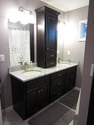 Wood Bathroom Vanities Cabinets by Interior Black Bathroom Decoration Using Black Wood Bathroom