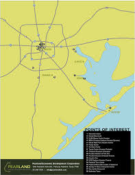 houston map convention center pearland edc maps