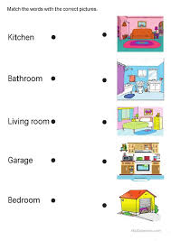 rooms in the house rooms in the house worksheet free esl printable worksheets made