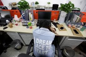 Offices by Chinese Tech Workers Sleep In Offices Business Insider