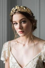 bridal crowns laurel leaf tiara bridal crown bridal tiara gold leaf crown