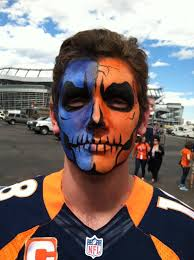 denver broncos skull face painting for the big game nfl denver