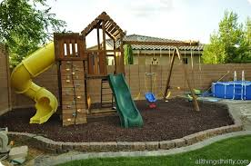 Backyard Swing Set Ideas Backyard Design Reveal It U0027s About Time Diy Playground