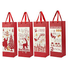 christmas paper bags 12 pack christmas gift wine bags themed paper bags with satin