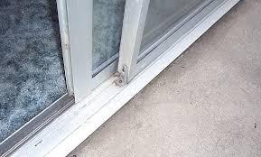Patio Door Seal Sliding Patio Doors My Track Is Sinking