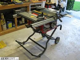 craftsman 10 portable table saw armslist for sale trade craftsman professional portable table saw