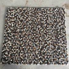 pebble rug rectangle felt ball rugs free delivery worldwide tagged