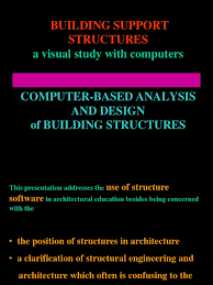 computer based analysis and design of building structures
