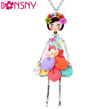 fashion necklace aliexpress images Buy bonsny statement flower doll necklace dress jpg