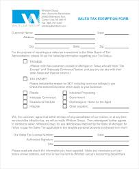 sample tax exemption form 8 free documents in pdf