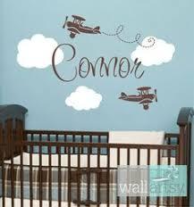 Boy Nursery Wall Decor by Baby Nursery Decor Connor Airplane Cloud Baby Boy Nursery Wall