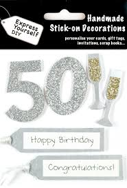 50th birthday cards silver 50th birthday diy greeting card toppers birthday cards