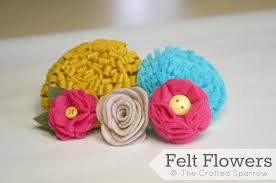 felt flowers felt flowers tutorials 5 to choose from