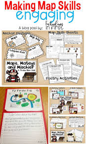 Map Of Usa With Compass Best 25 Teaching Map Skills Ideas Only On Pinterest Teaching