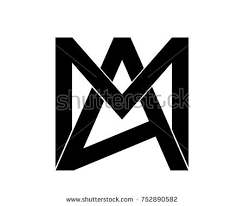 a m creative abstract alphabet logo maamam logo stock vector 752890582