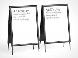a frame foldable sign board psd mockup psd mockups