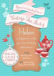 personalised vintage high tea invitation custom high tea