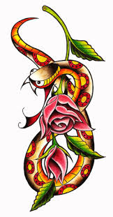 snake and roses by captain captainblack s