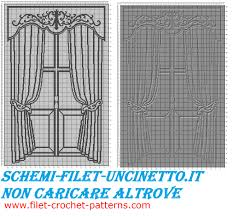 classic curtains with windows free filet crochet pattern free