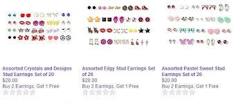 school earrings s sets of 20 for 20 earring sale plus b2g1 10 back to