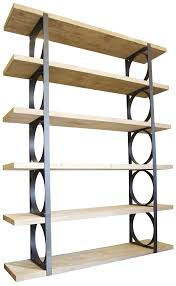 Industrial Metal Bookshelf Bookcase Simple Storage Design With Metal And Wood Bookcase