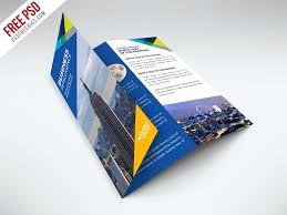 brochure psd template 3 fold 45 free psd tri fold bi fold brochures templates for promoting
