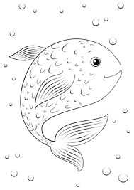 cartoon fish coloring free printable coloring pages