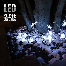 Battery String Lights With Timer by Torchstar 9 8ft 20 Leds Starfish Shape String Lights Battery
