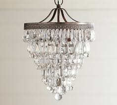 How To Make A Beaded Chandelier Clarissa Crystal Drop Small Round Chandelier Pottery Barn