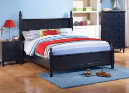 Youth Bed Frames Navy Finish Youth Bed Frame Caravana Furniture