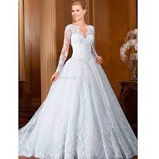 Elegant Wedding Gowns Aliexpress Com Buy Long Sleeves Princess Wedding Dress Lace