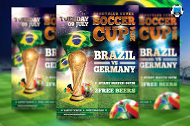 soccer cup flyer template flyer templates creative market