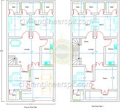 3d Home Design 5 Marla 21 5 U0027 X 45 5 U0027 House Design Civil Engineers Pk