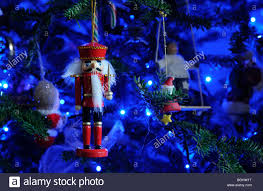 a traditional wooden nutcracker soldier christmas tree decoration