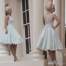 knee length wedding dress custom made white vintage lace wedding dress knee length wedding