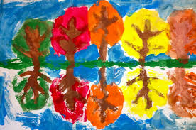 art expression of imagination fall art by first grade