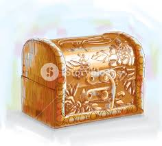 vector hand drawn treasure chest royalty free stock image
