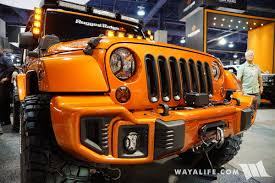 orange jeep cj 2016 sema rugged ridge orange jeep jk wrangler unlimited