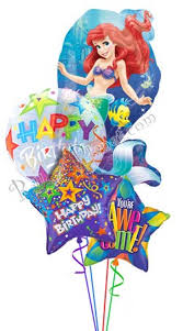 character balloons delivery princess birthday x mermaid balloon bouquet 4 balloons