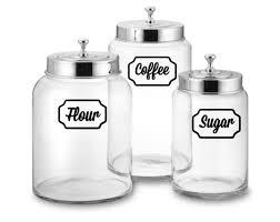 white kitchen canister set canister set decals kitchen decal canister labels canister