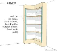 Build Corner Bookcase Corner Shelves Wondrous Ideas How To Build Corner Shelves