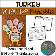 twas the before thanksgiving retelling printables book activity