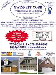 Overhead Door Company Atlanta Gwinnett Cobb Overhead Door Company Doors Directory