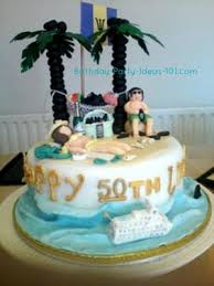 caribbean birthday holiday a perfect beach cake