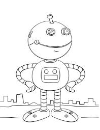cute cartoon robot coloring free printable coloring pages