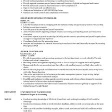 controller resume exle controller resume exle template document exles finance plant