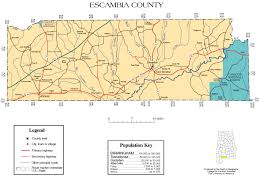 Florida Alabama Map by Escambia County Alabama History Adah